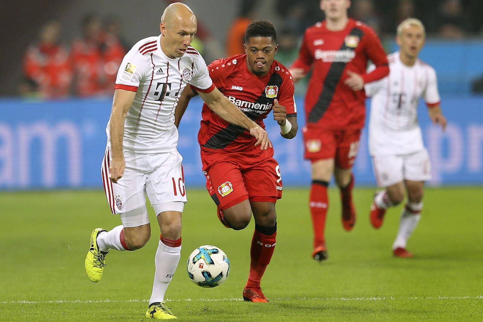 Läuft Arjen Robben den Leverkusenern wieder davon? Jetzt auf Bayern gegen Leverkusen wetten!