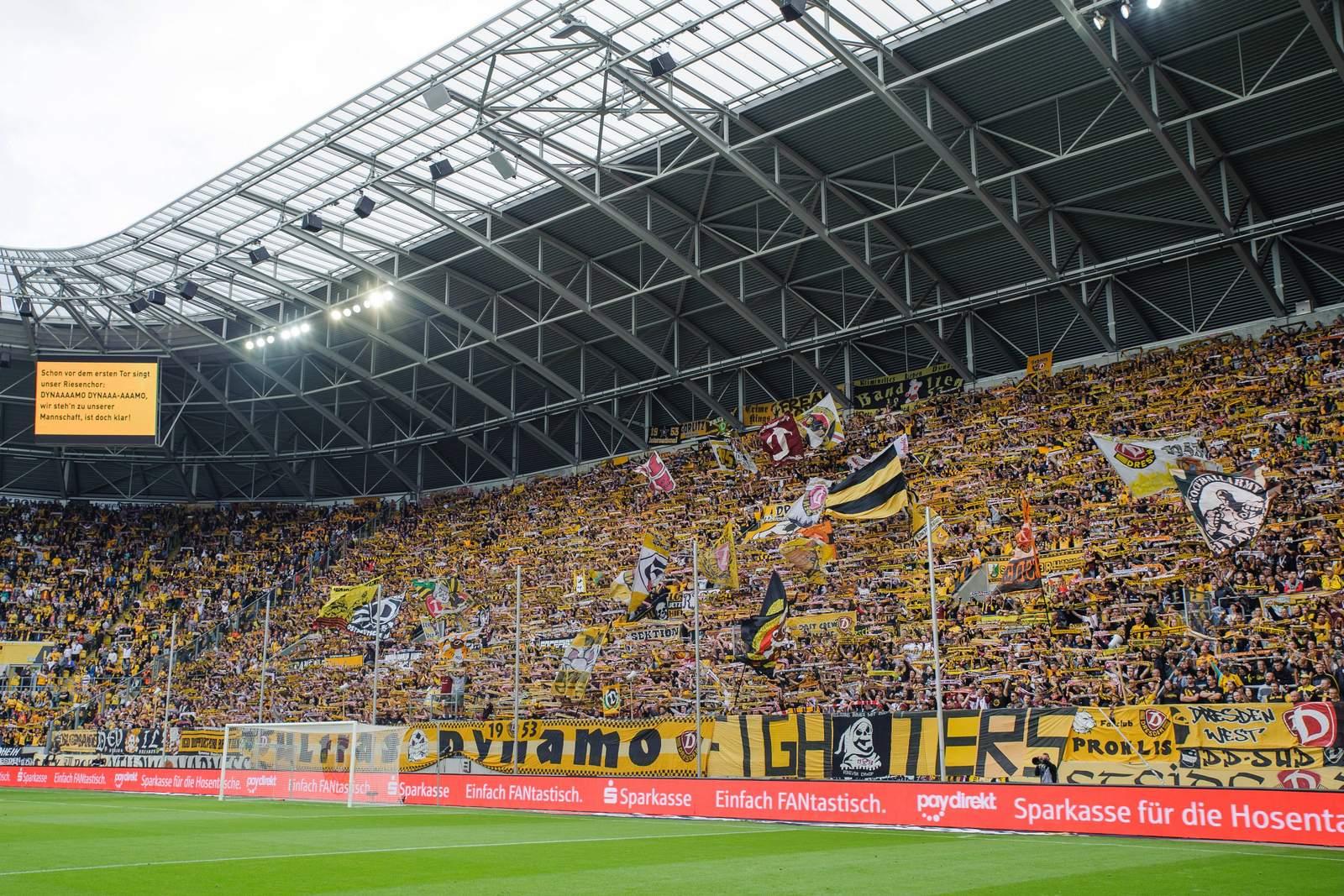 Dynamos zwölfter Mann bei Heimspielen: Die Fans.