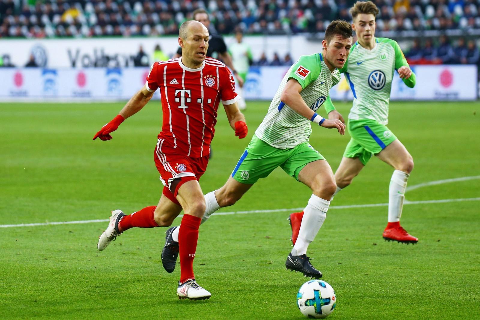 Setzt sich Robben gegen Knoche durch? Jetzt auf Wolfsburg gegen Bayern wetten
