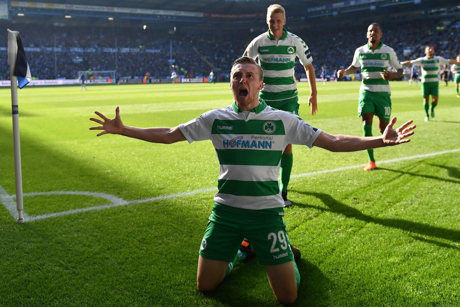 Tobias Mohr bejubelt einen seiner bisherigen vier Treffer.