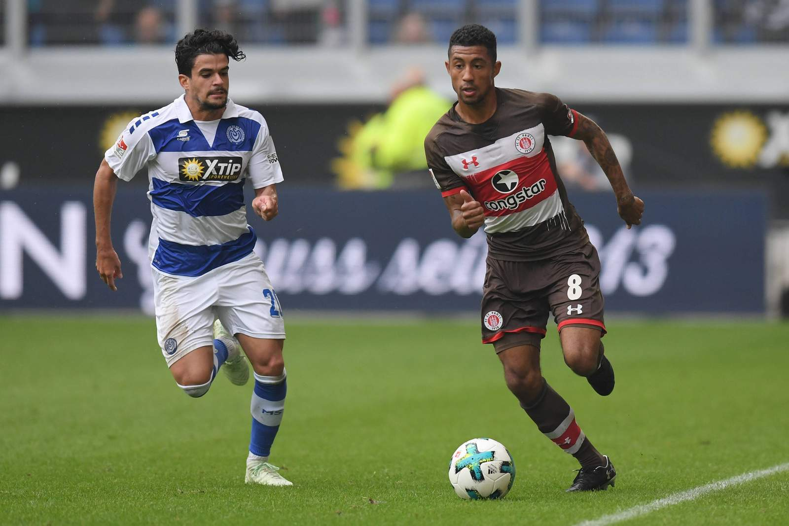 Zieht Jeremy Dudziak Cauly Souza davon? Jetzt auf MSV Duisburg gegen FC St. Pauli wetten.
