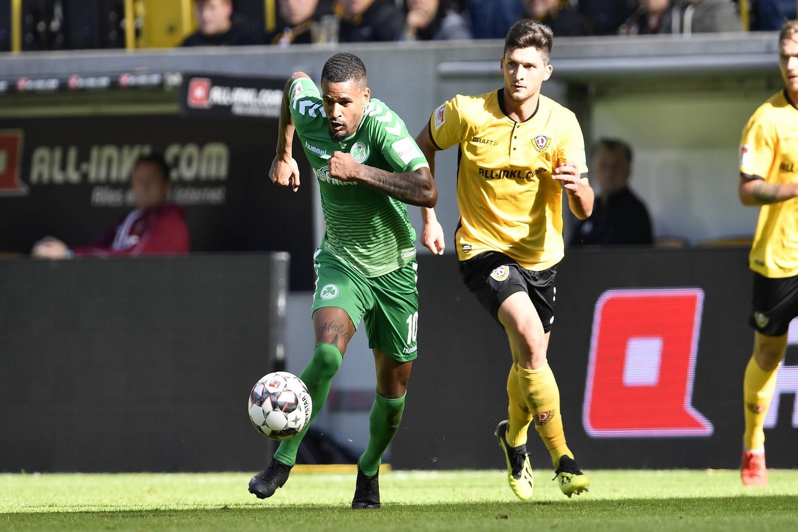 Mit sechs Tore hat Daniel Keita-Ruel großen Anteil am Fürther Aufschwung.