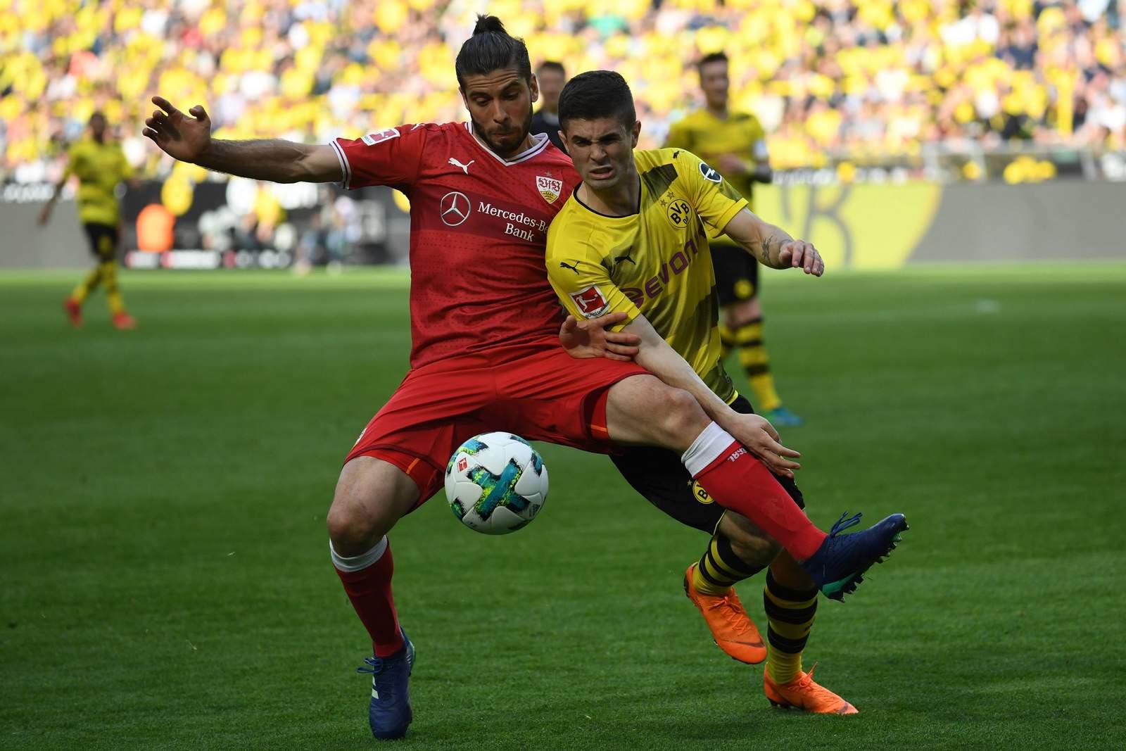 Kann sich Cristian Pulisic gegen Emiliano Insua durchsetzen? Jetzt auf Stuttgart gegen Dortmund wetten.