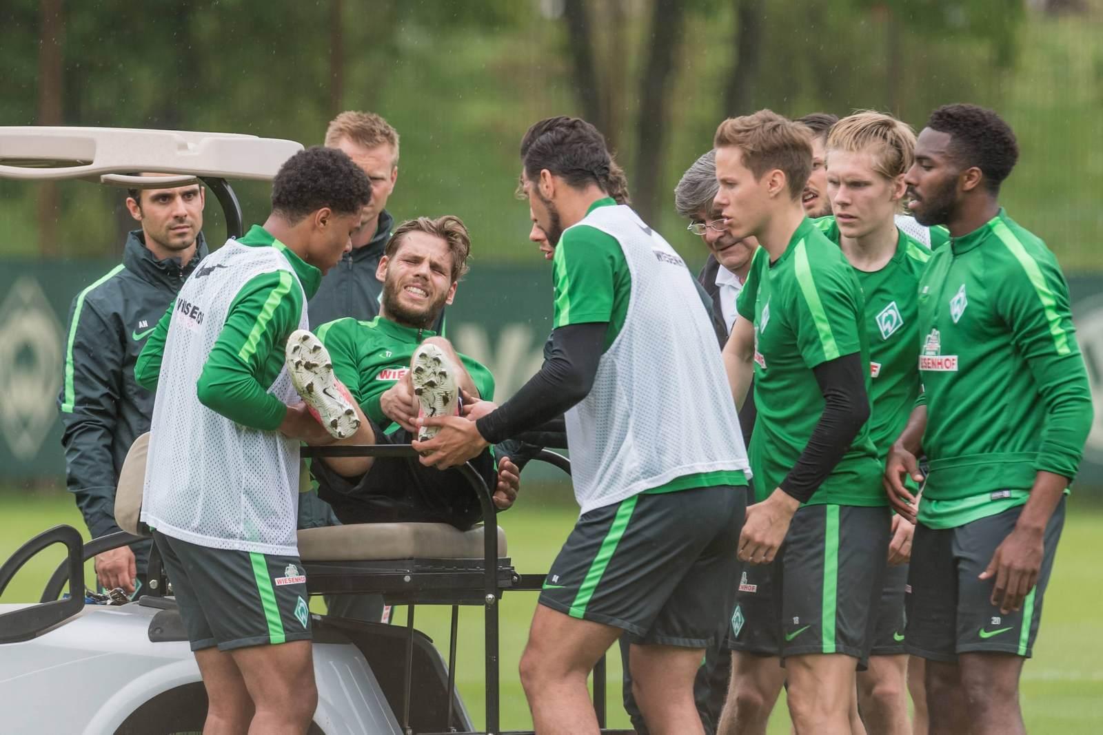 Justin Eilers im Training des SV Werder Bremen