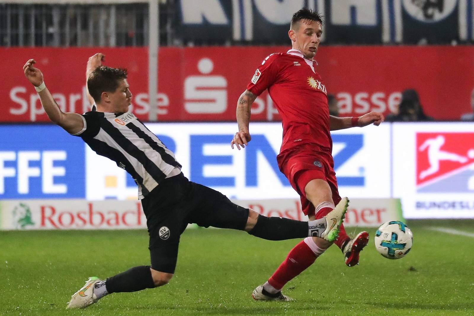 Kann sich Boris Tashchy gegen Denis Linsmayer durchsetzen? Jetzt Sandhausen gegen Duisburg wetten.