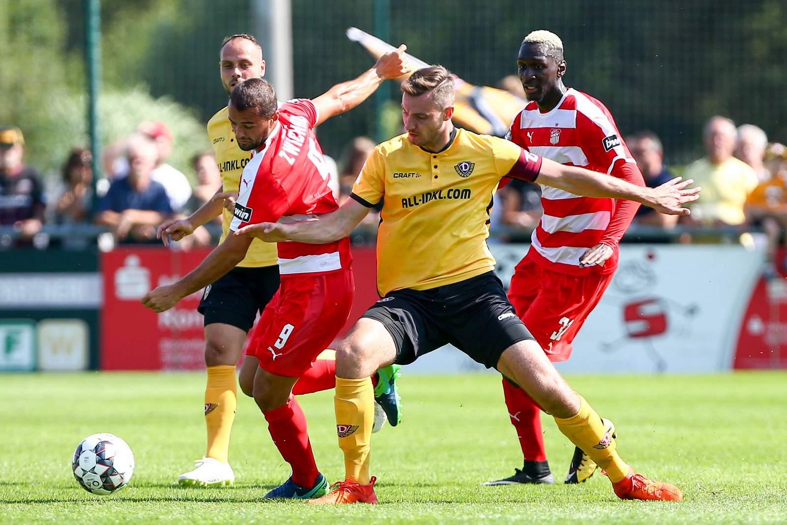 Florian Ballas im Testspiel gegen den FSV Zwickau