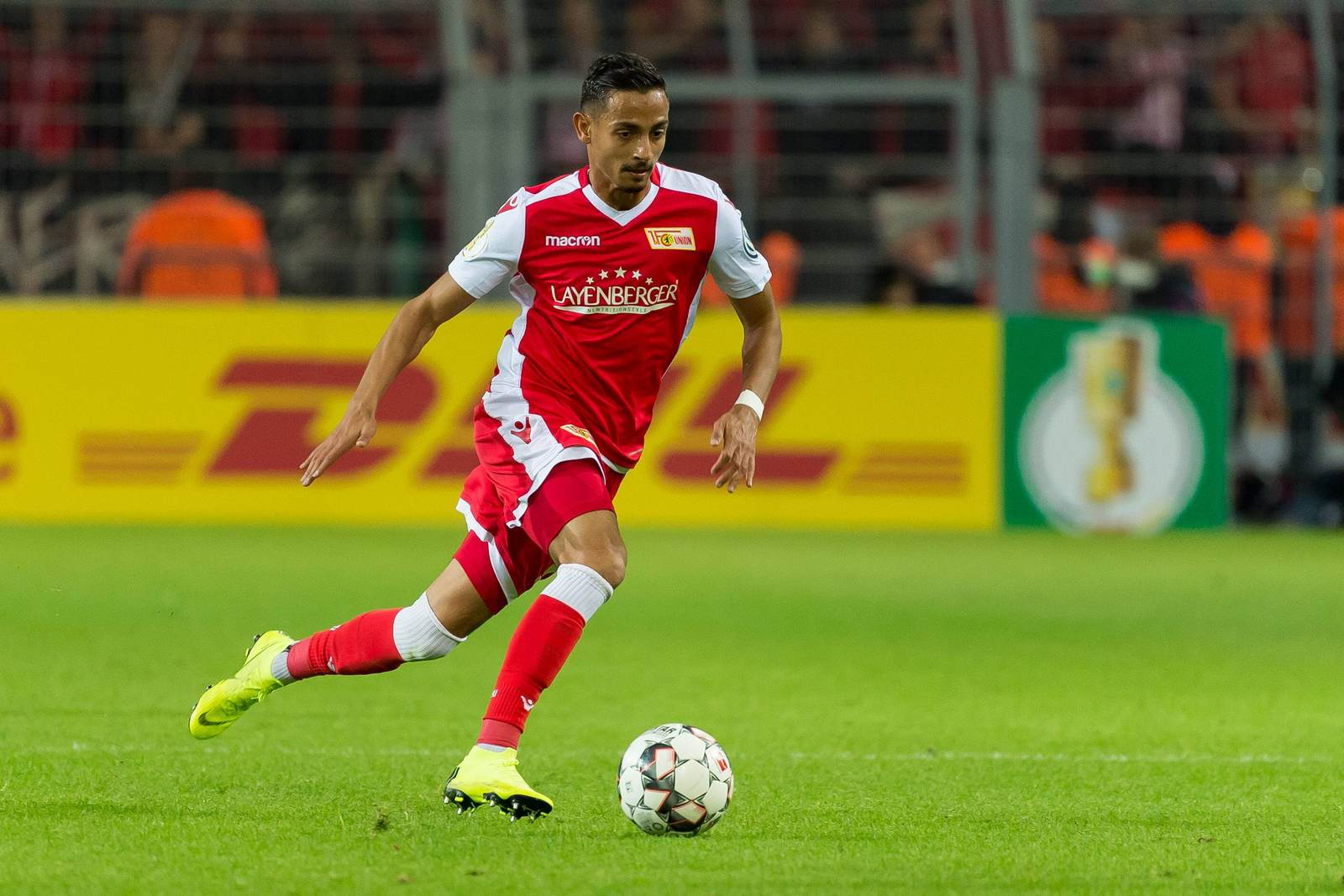 Kenny Prince Redondo am Ball für Union Berlin