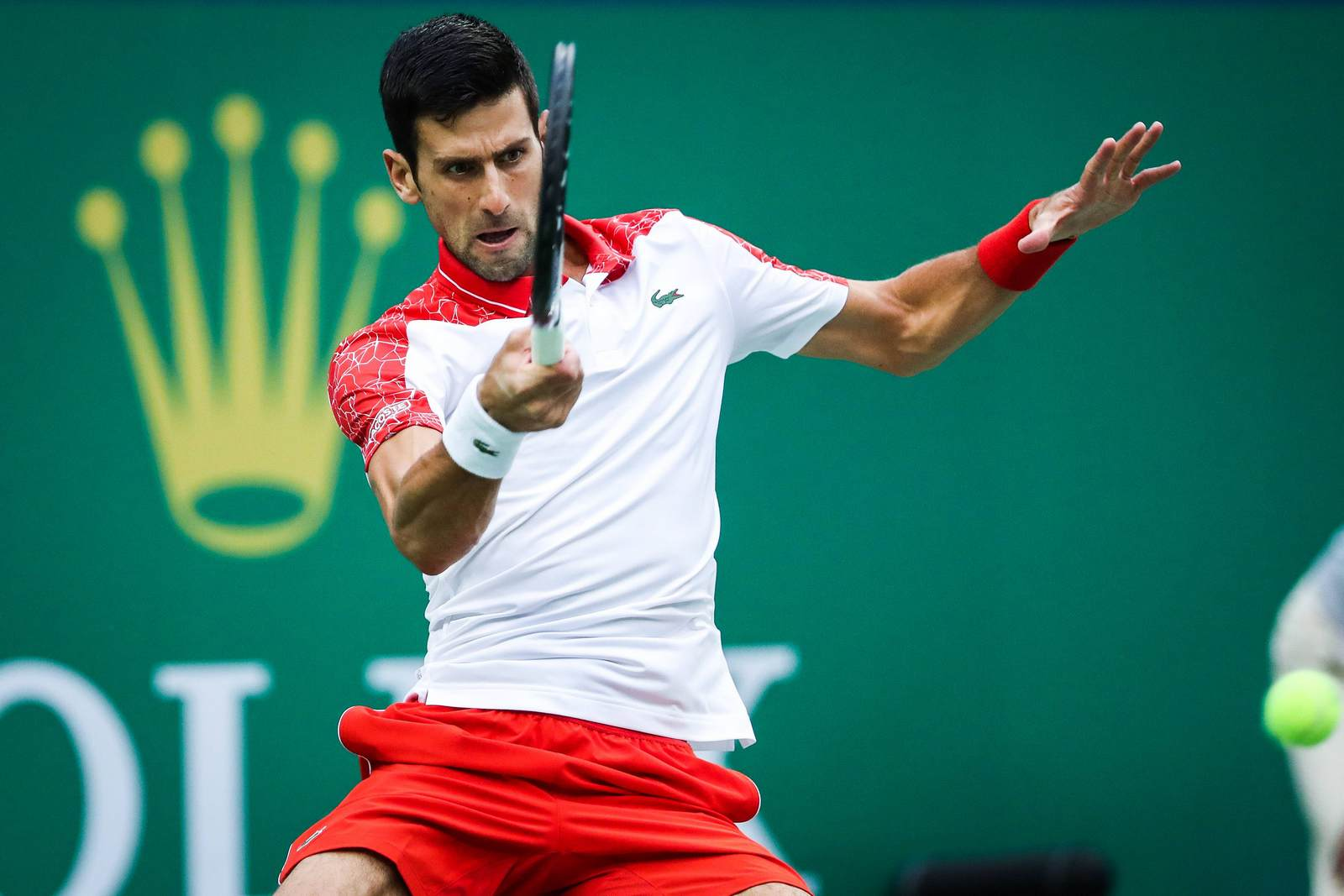 Novak Djokovic beim Return