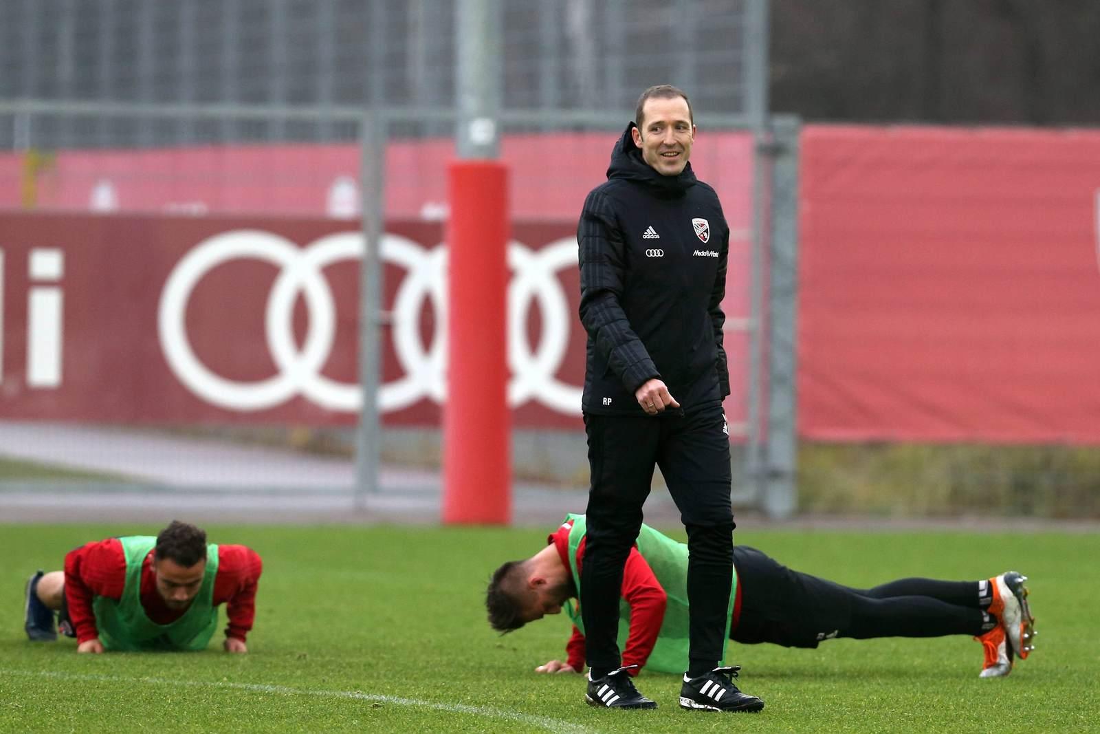 Roberto Pätzold im Training des FC Ingolstadt