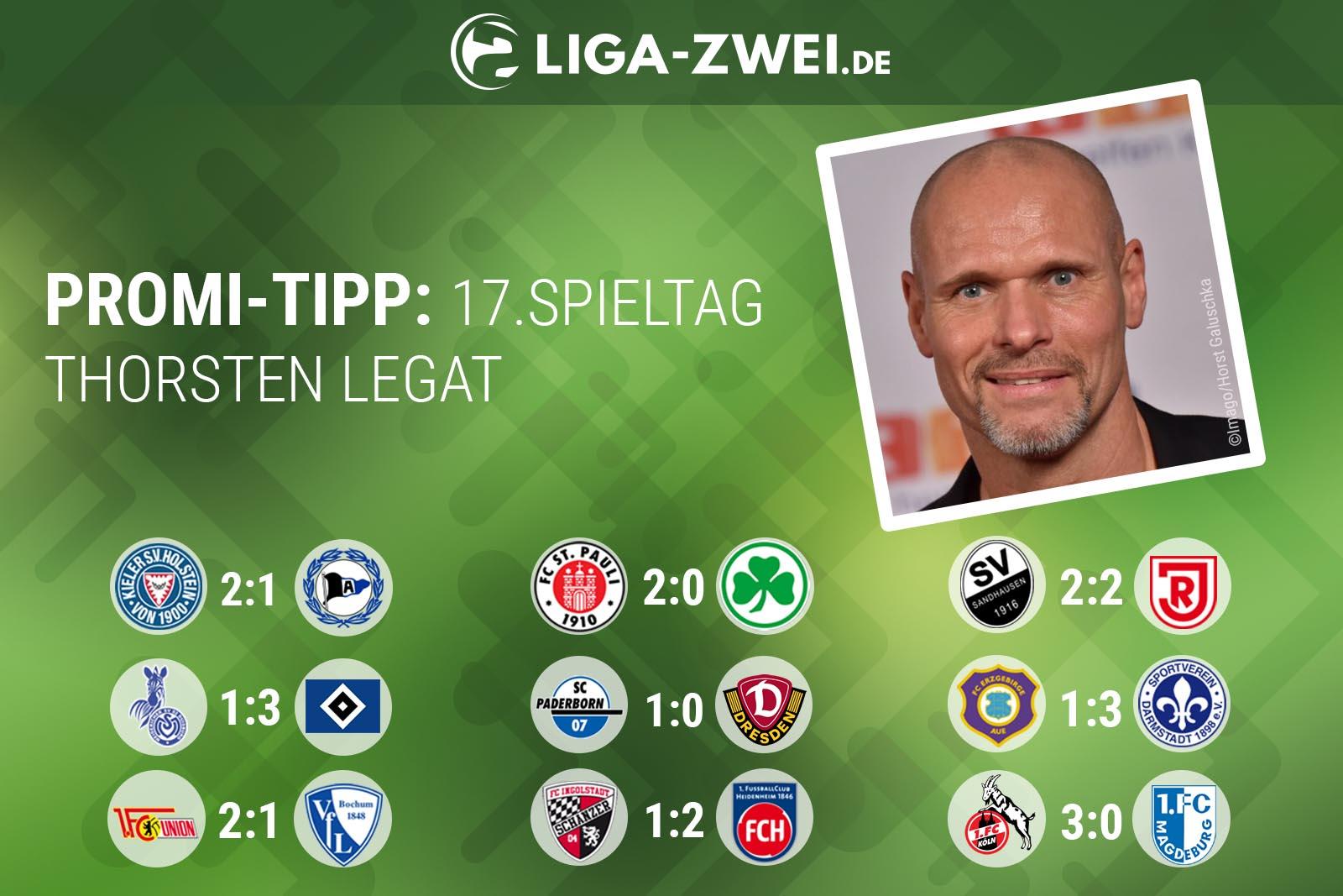 Thorsten Legat tippte den 17. Spieltag