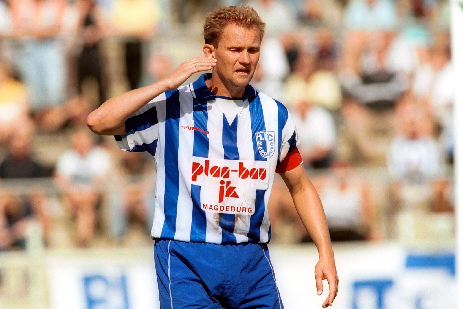 Bodo Schmidt im Trikot des 1. FC Magdeburg