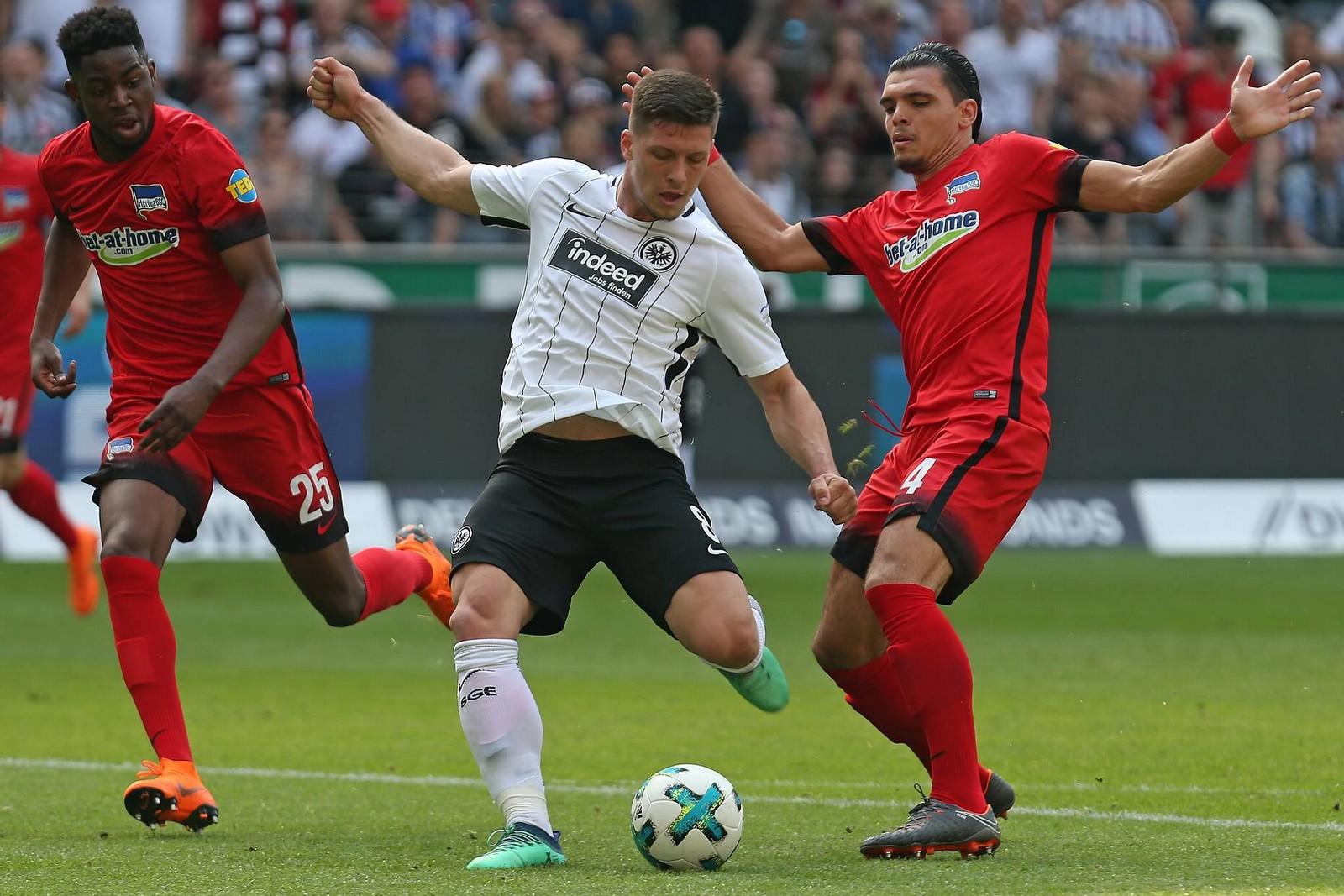 Findet Luka Jovic gegen Hertha wieder den Weg zum Tor? Jetzt auf Hertha gegen Frankfurt wetten!