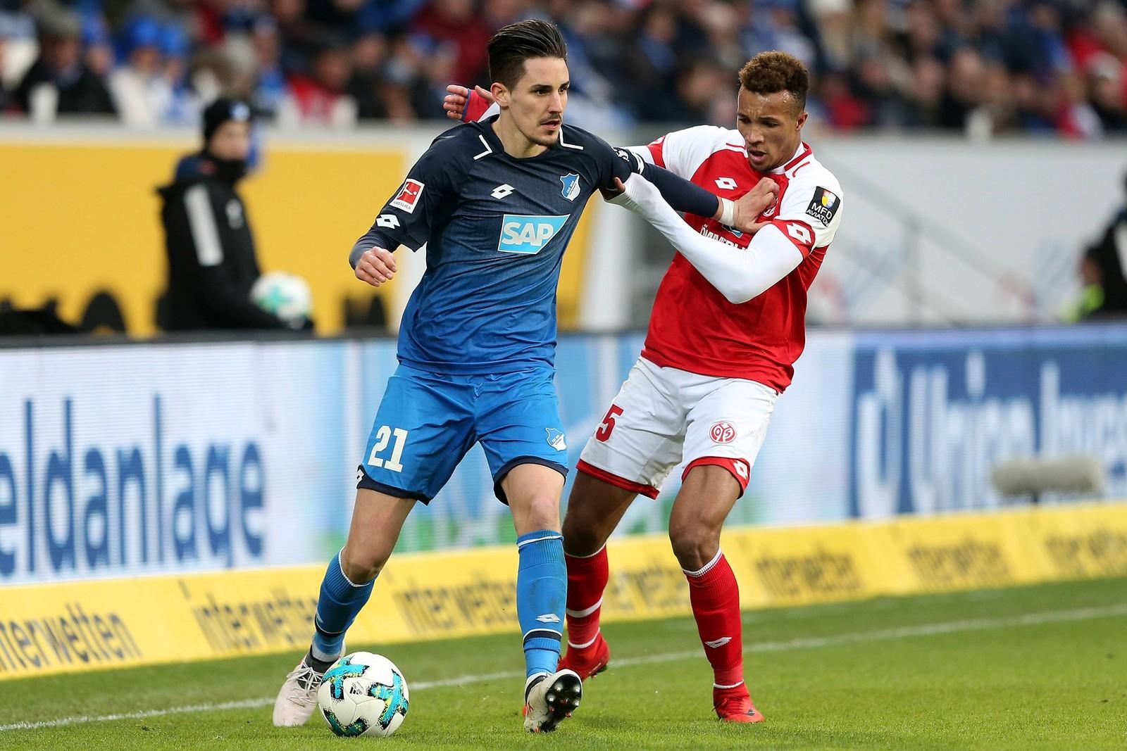 Können Benjamin Hübner und Jean-Philippe Gbamin eine erneute Torflut verhindern? Jetzt auf Hoffenheim gegen Mainz wetten!