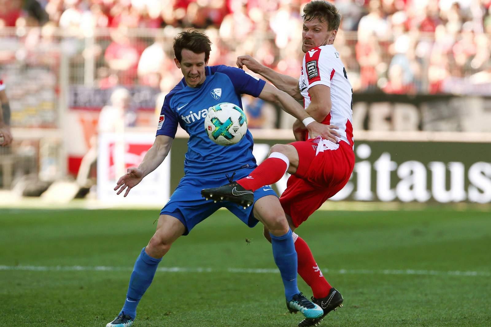 Kann sich Robbie Kruse gegen Michael Parensen behaupten? Jetzt auf Union Berlin gegen VfL Bochum wetten.