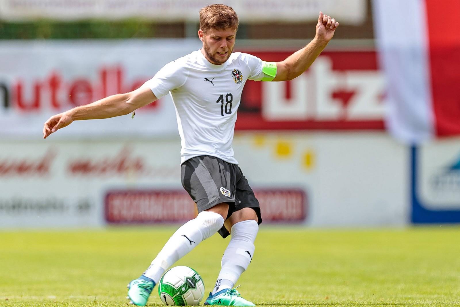 Dominik Baumgartner im Einsatz für die Nationalmannschaft.