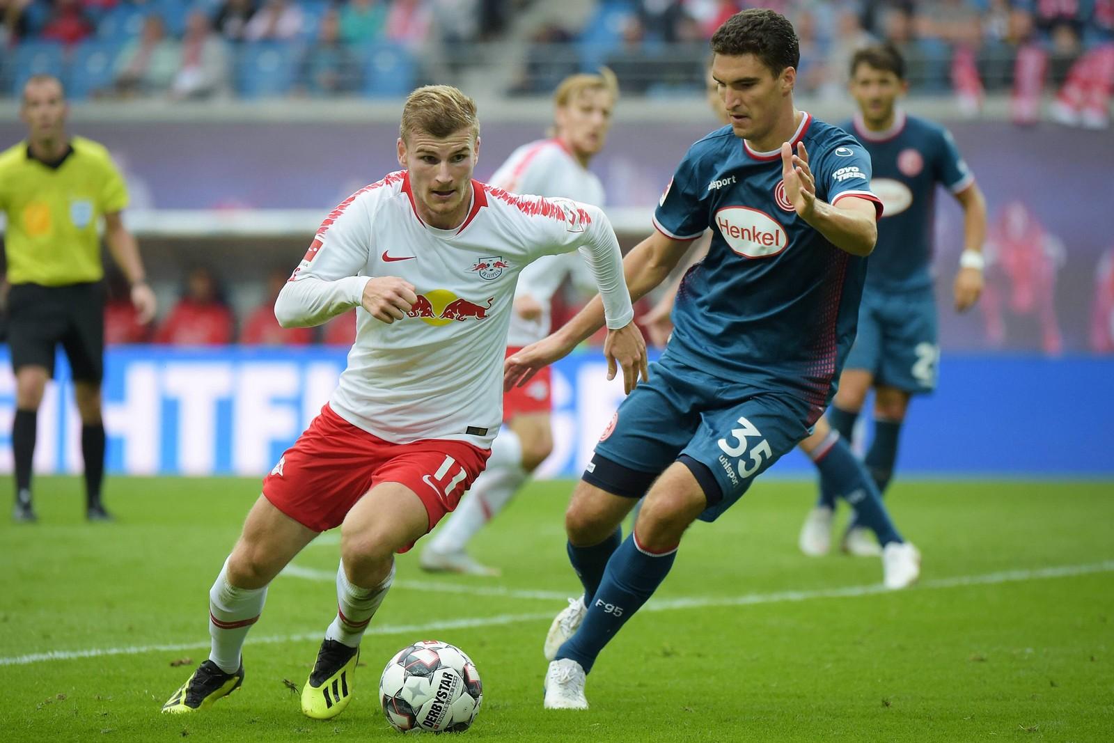 Zieht Timo Werner der Fortuna-Abwehr davon? Jetzt auf Düsseldorf gegen Leipzig wetten!