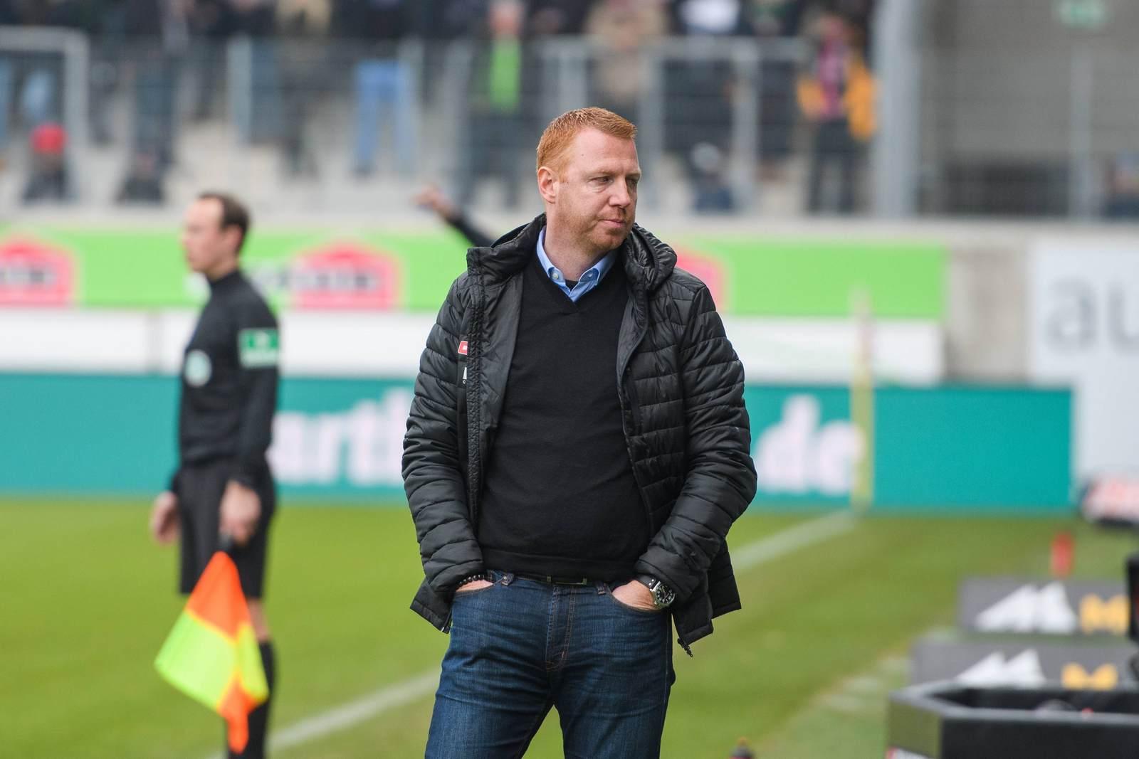 Maik Walpurgis als Trainer von Dynamo Dresden
