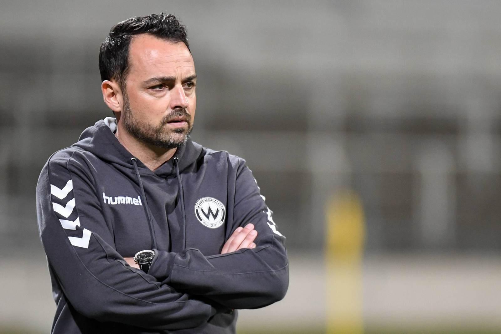 Patrick Mölzl als Trainer von Wacker Burghausen