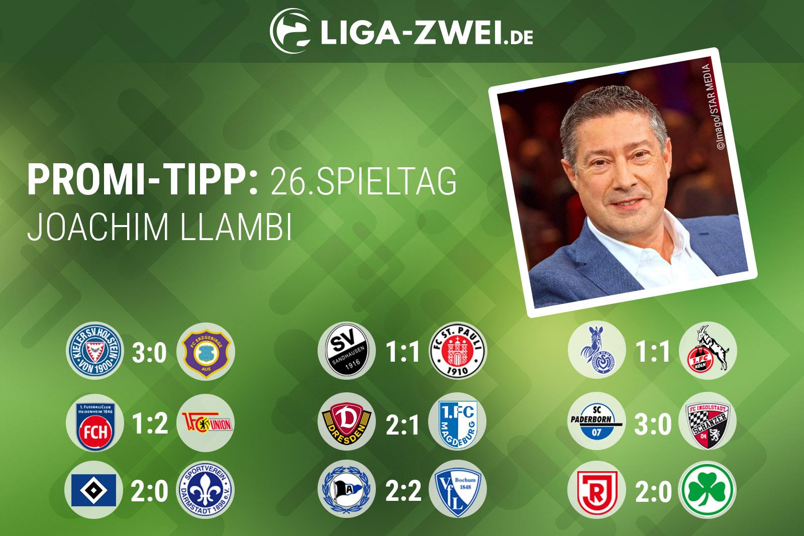 Joachim Llambi beim Liga-Zwei.de Promi-Tipp