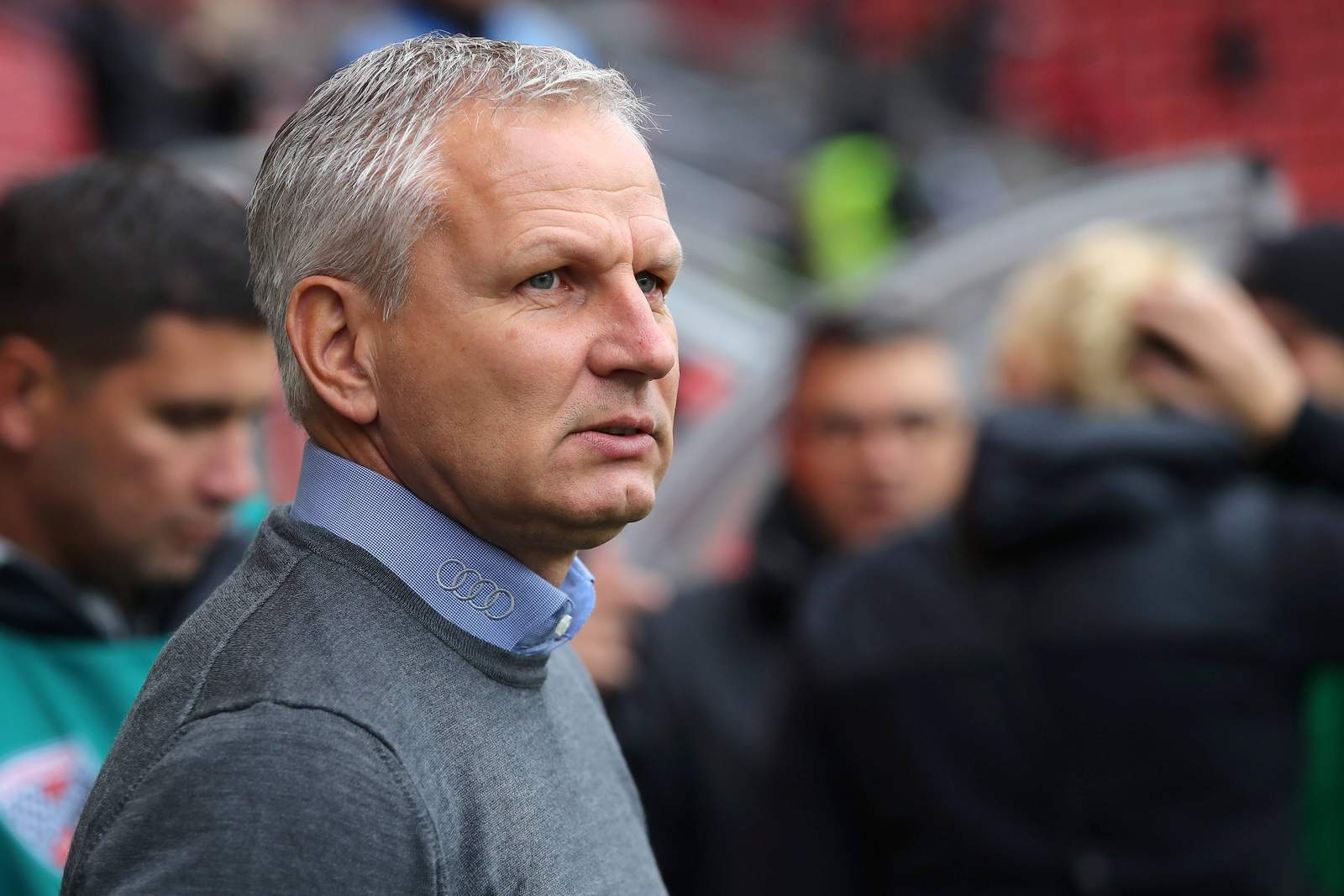 Harald Gärtner vor dem Spiel des FCI gegen Duisburg.