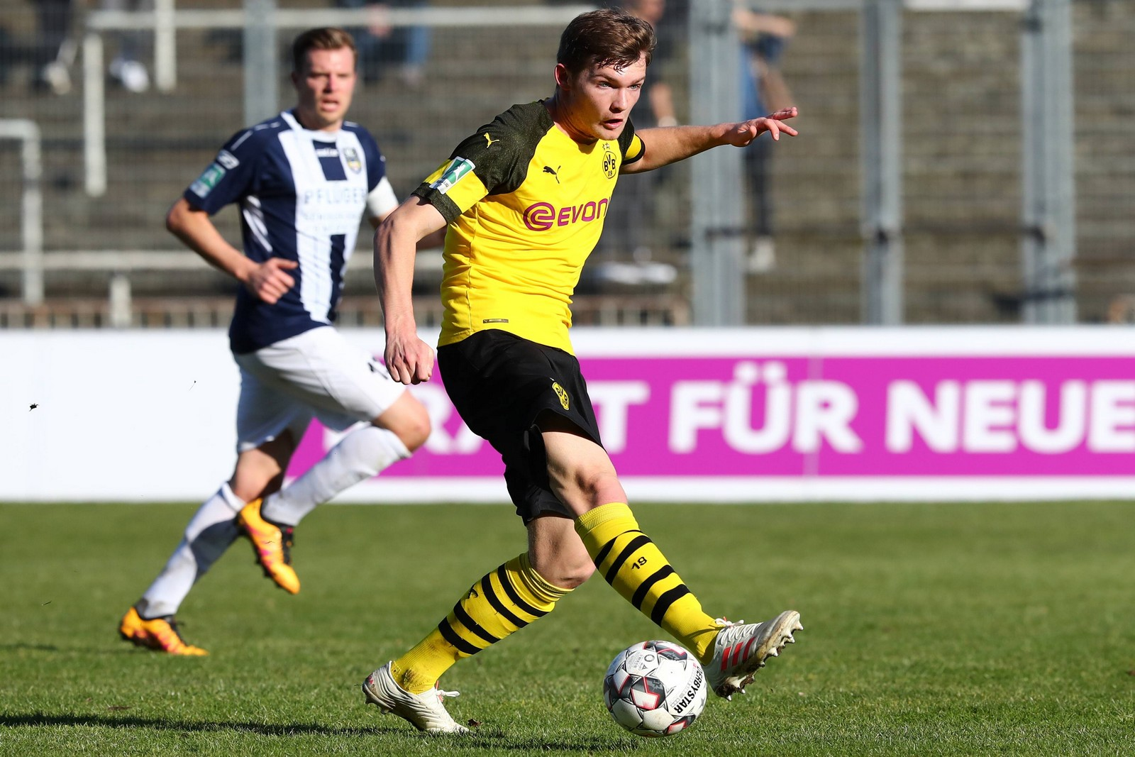 Luca Kilian in der Partie BVB II gegen Wiedenbrück.