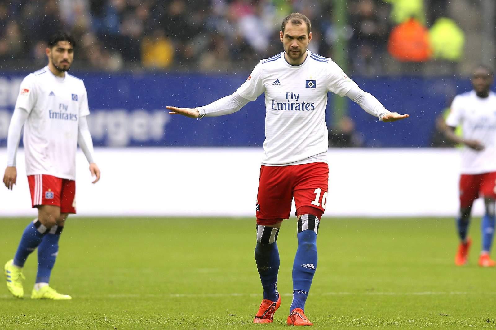 Pierre-Michel Lasogga beim Spiel HSV gegen Darmstadt