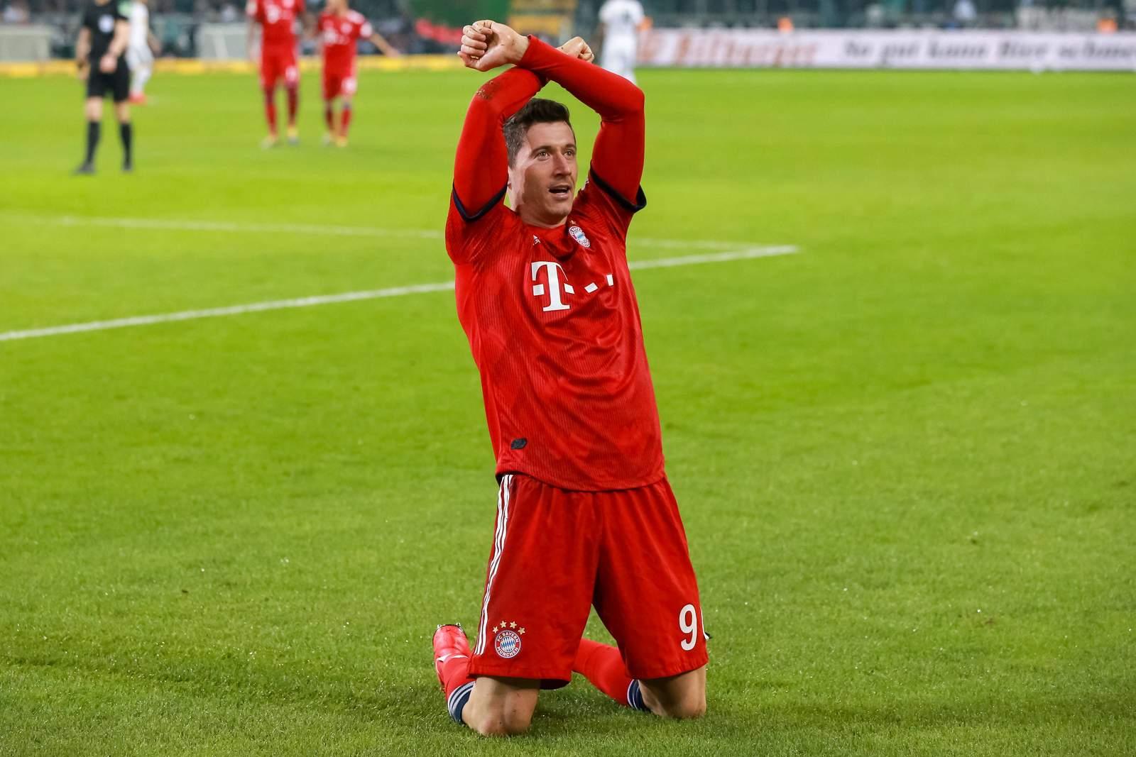 Robert Lewandowski jubelt. Jetzt auf den Champions League Sieger 2020 wetten