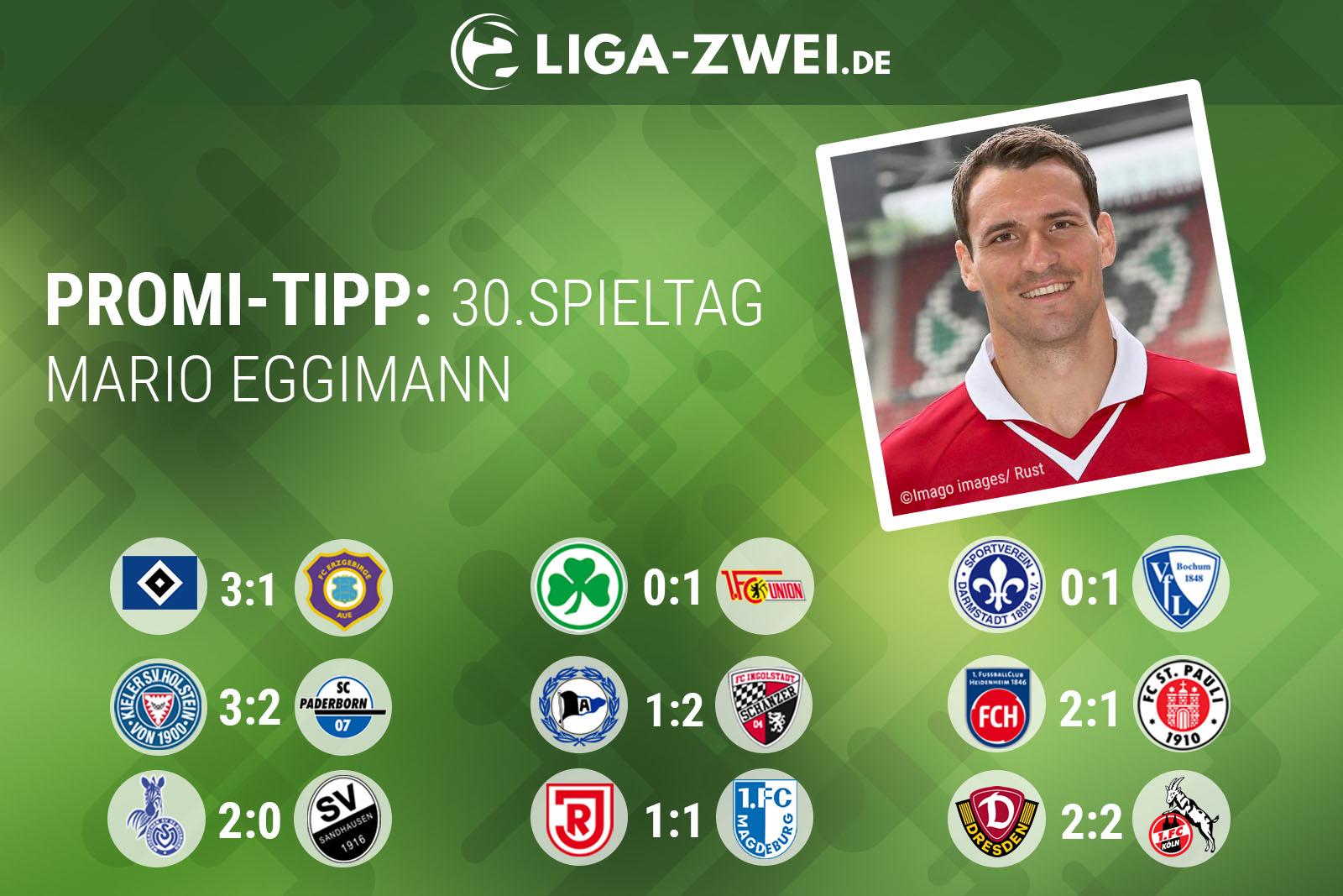 So tippt Mario Eggimann den 30. Spieltag in der 2. Bundesliga