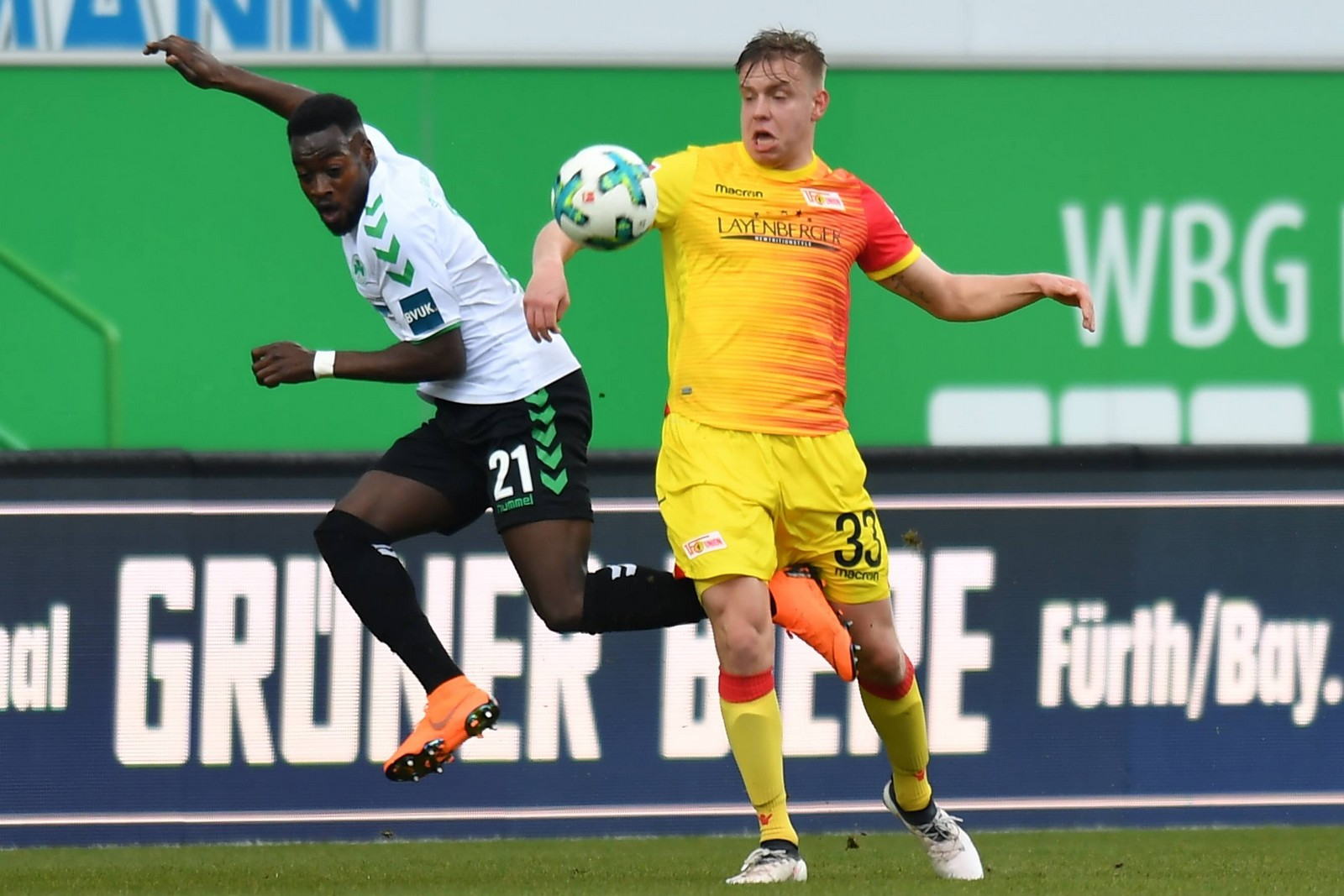 Lennard Maloney von Union Berlin im Spiel gegen Fürth