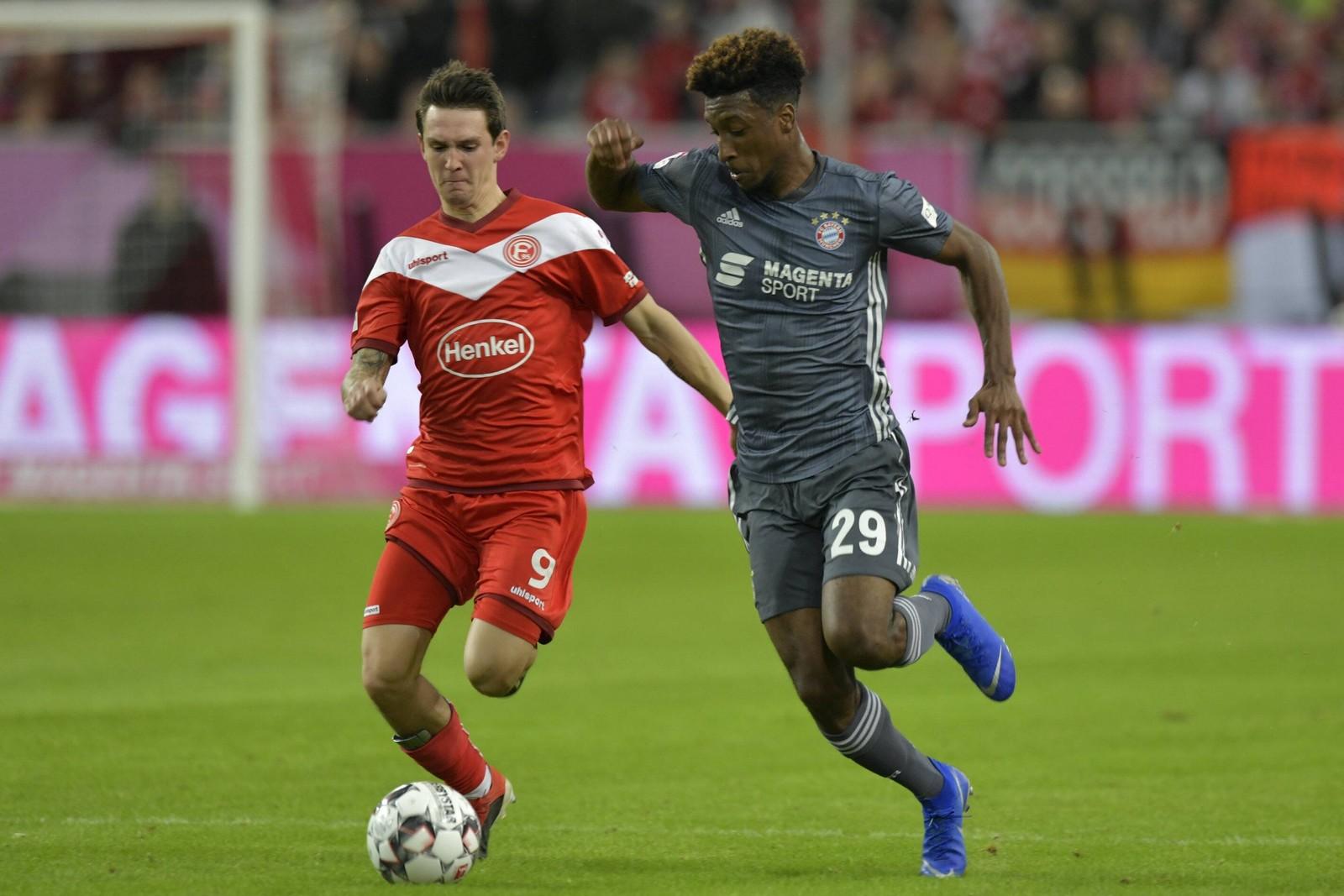 Behauptet Kingsley Coman mit dem FCB gegen Foruna die Tabellenführung? Jetzt auf Düsseldorf gegen Bayern wetten!