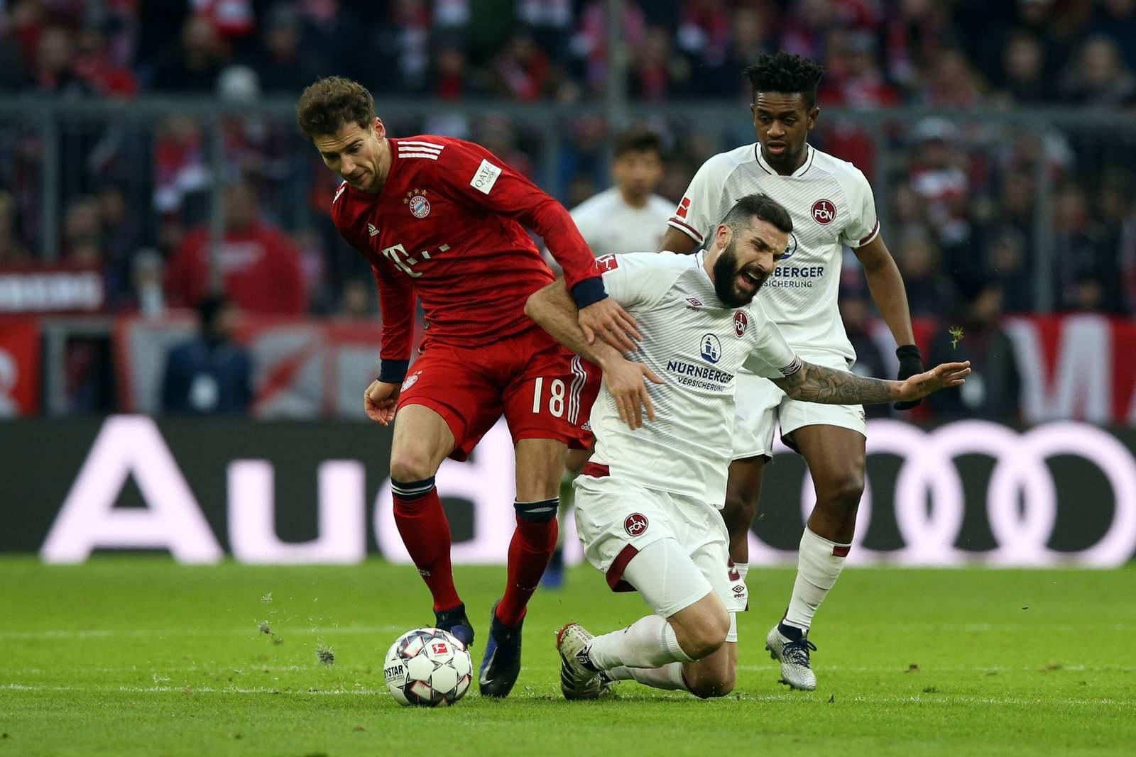 Dominiert Leon Goretzka mit dem FCB auch Mikael Ishak und den FCN? Jetzt auf Nürnberg gegen Bayern wetten!