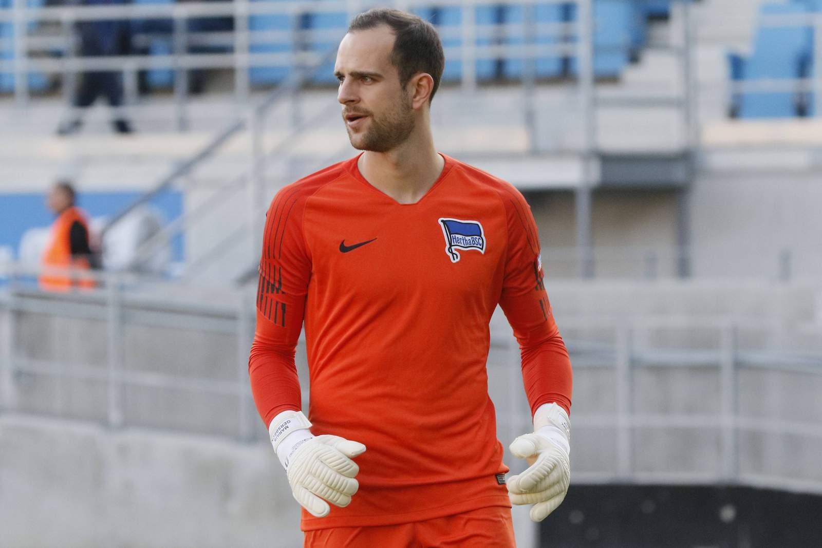 Marius Gersbeck bei der U23 von Hertha BSC