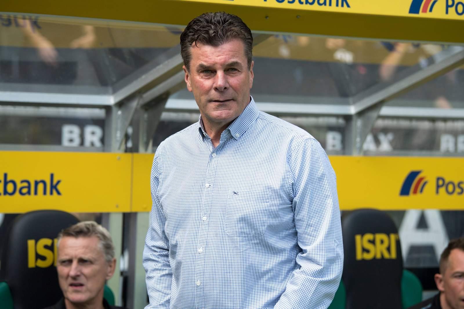 Dieter Hecking als Trainer in Gladbach