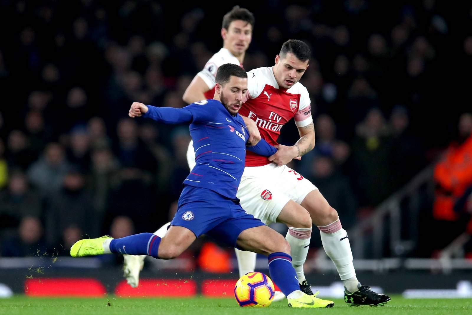 Kann Granit Xhaka (r.) Eden Hazard stoppen? Jetzt auf Chelsea gegen Arsenal wetten.