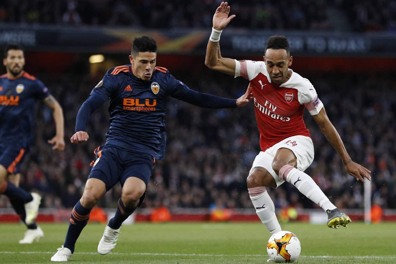 Kann Pierre-Emerick Aubameyang mit Arsenal den Finaleinzug perfekt machen? Jetzt auf Valencia vs Arsenal wetten!