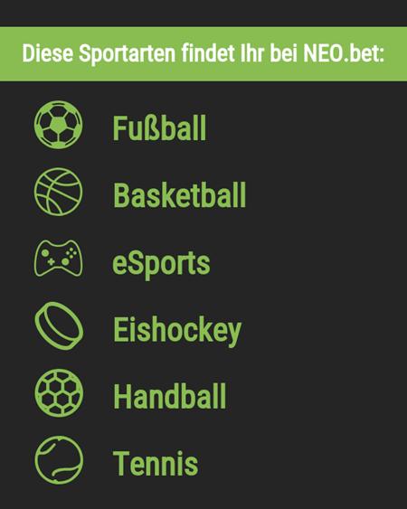 Sportarten bei Neo.bet