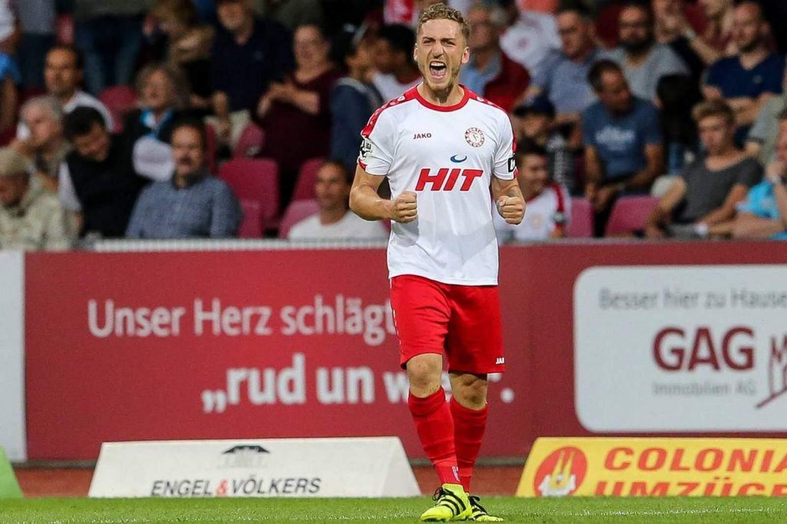 Robin Scheu im Trikot von Fortuna Köln