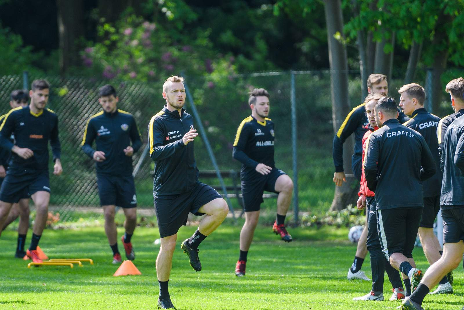 Brian Hamalainen beim Training von Dynamo Dresden