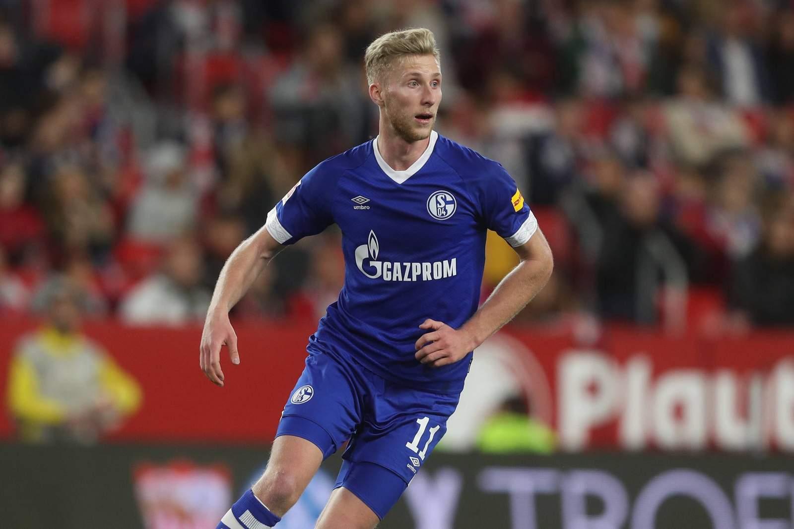 Benedikt Zahn im Trikot des FC Schalke 04