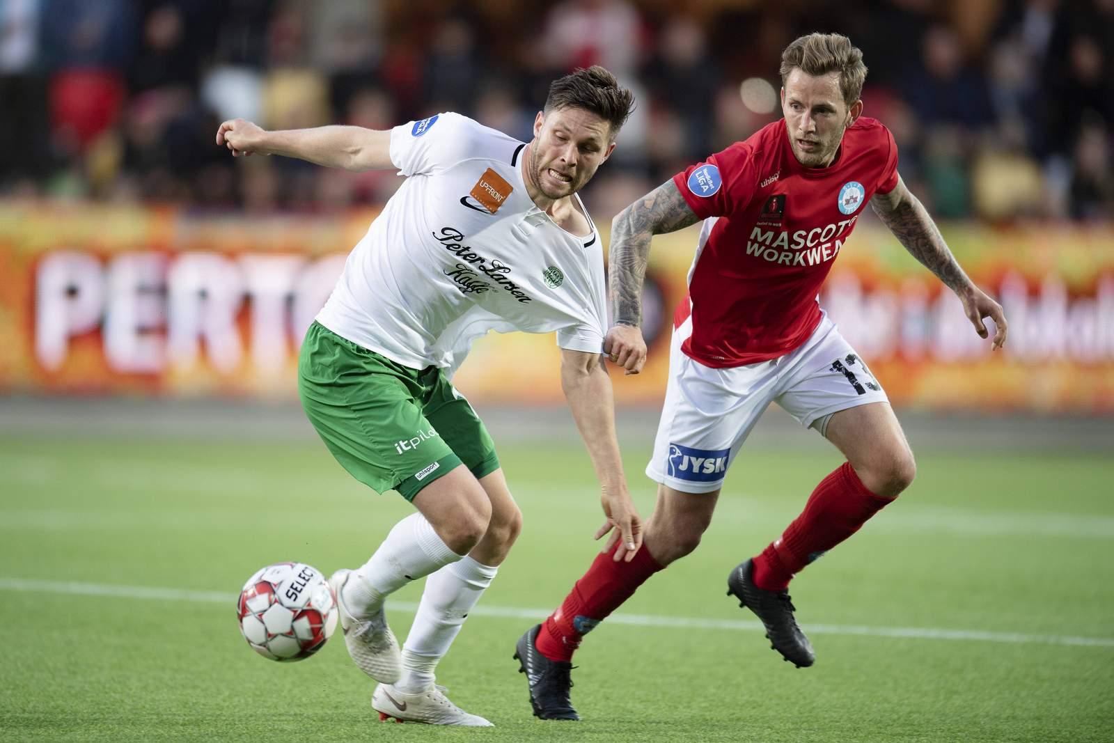 Andreas Albers von Viborg gegen Mikkel Vendelbo von Silkeborg