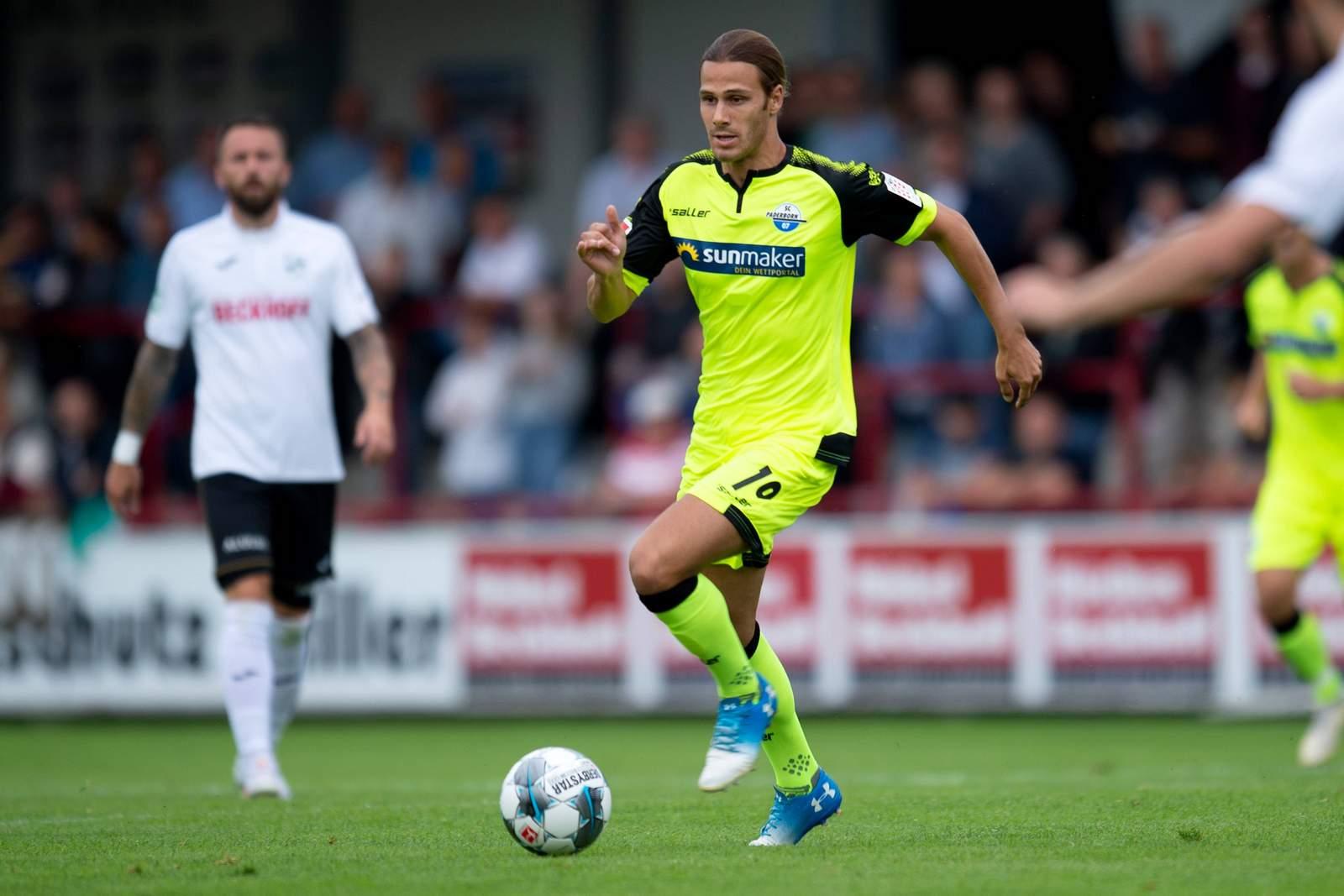 Tobias Schwede im Test gegen Verl.