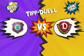 Tipp-Duell: Erzgebirge Aue gegen Dynamo Dresden