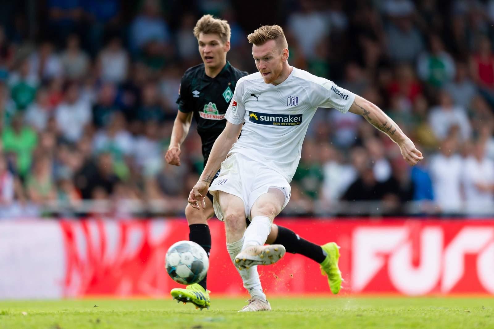 Kevin Friesenbichler im Test gegen Werder.