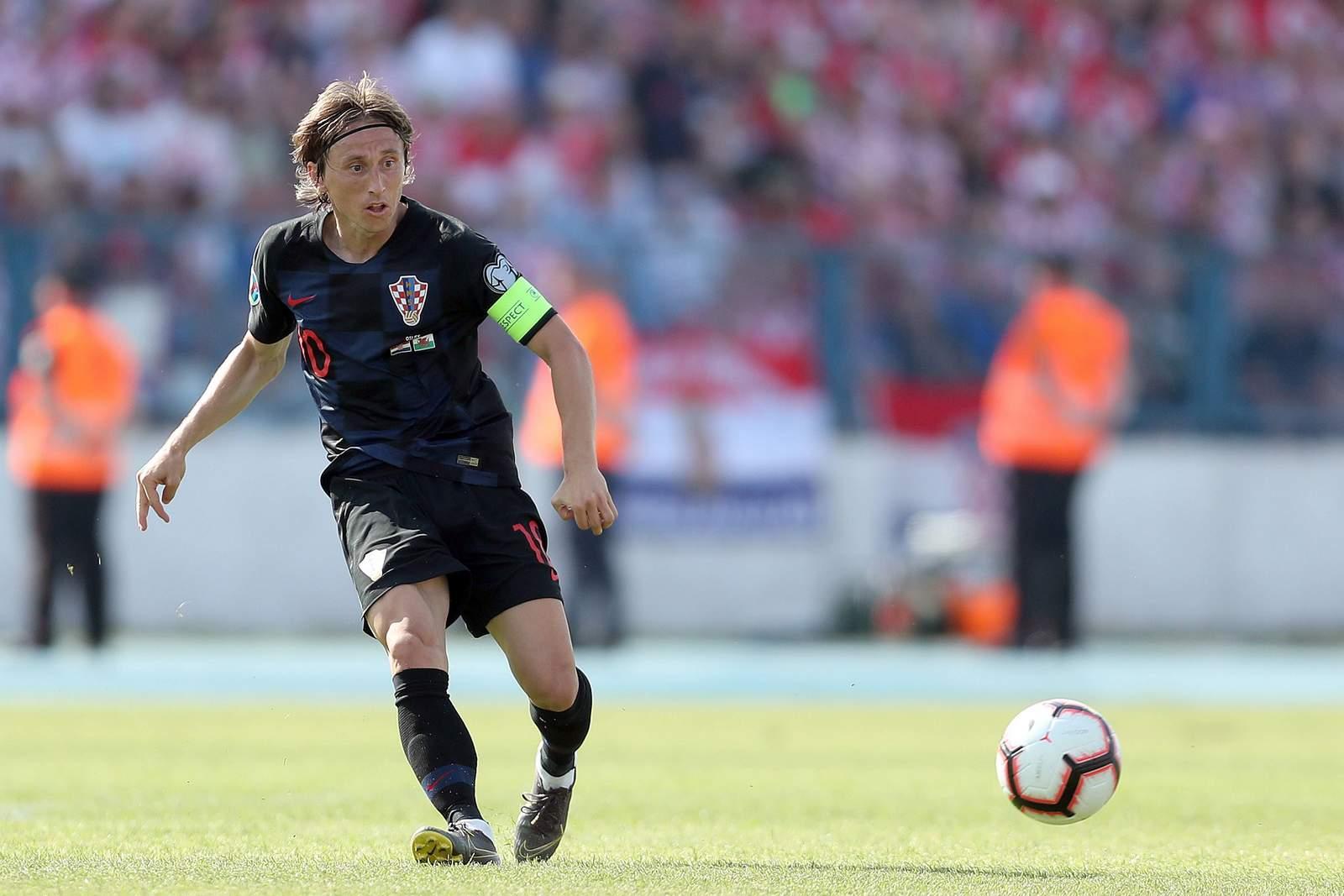 Luka Modric im Trikot von Kroatien.