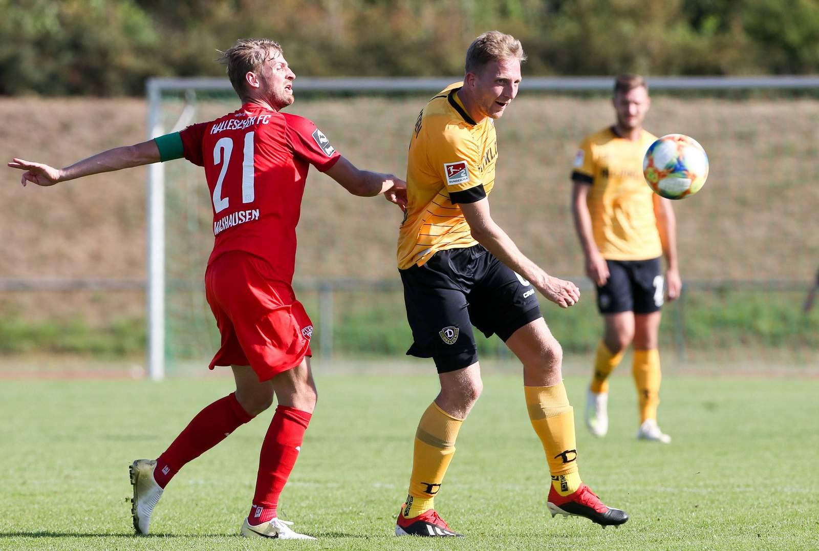 Marco Hartmann (r.) gegen Jan Washausen.
