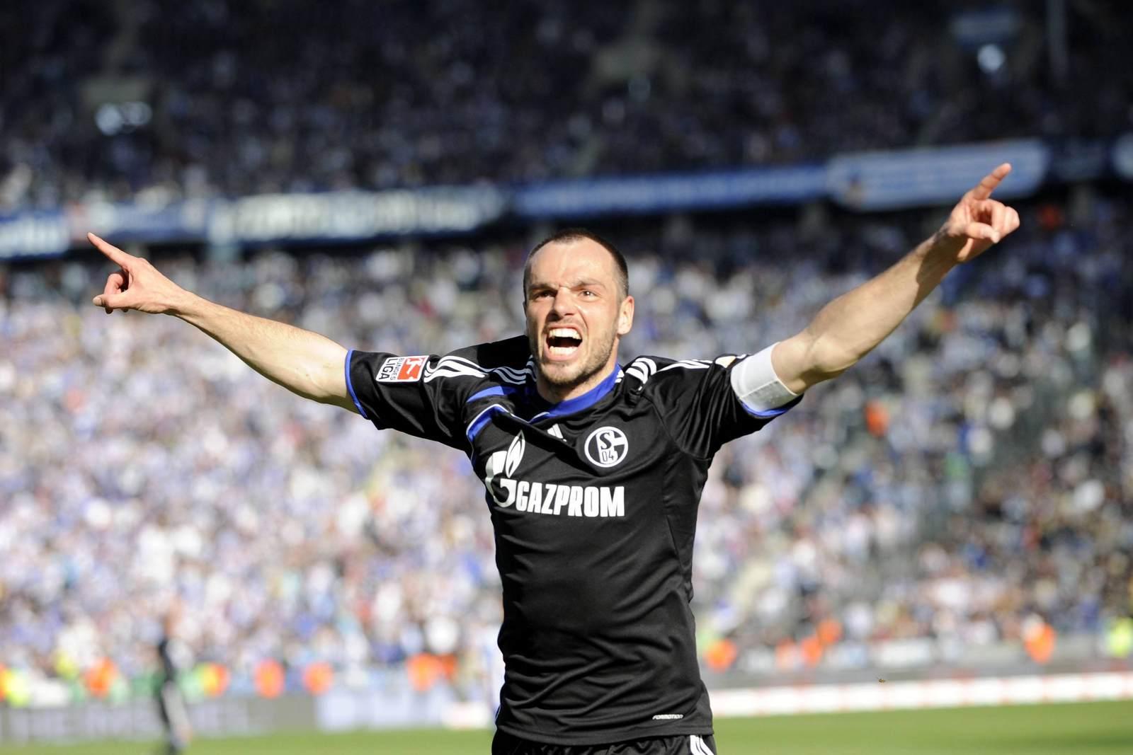 Heiko Westermann jubelt für Schalke