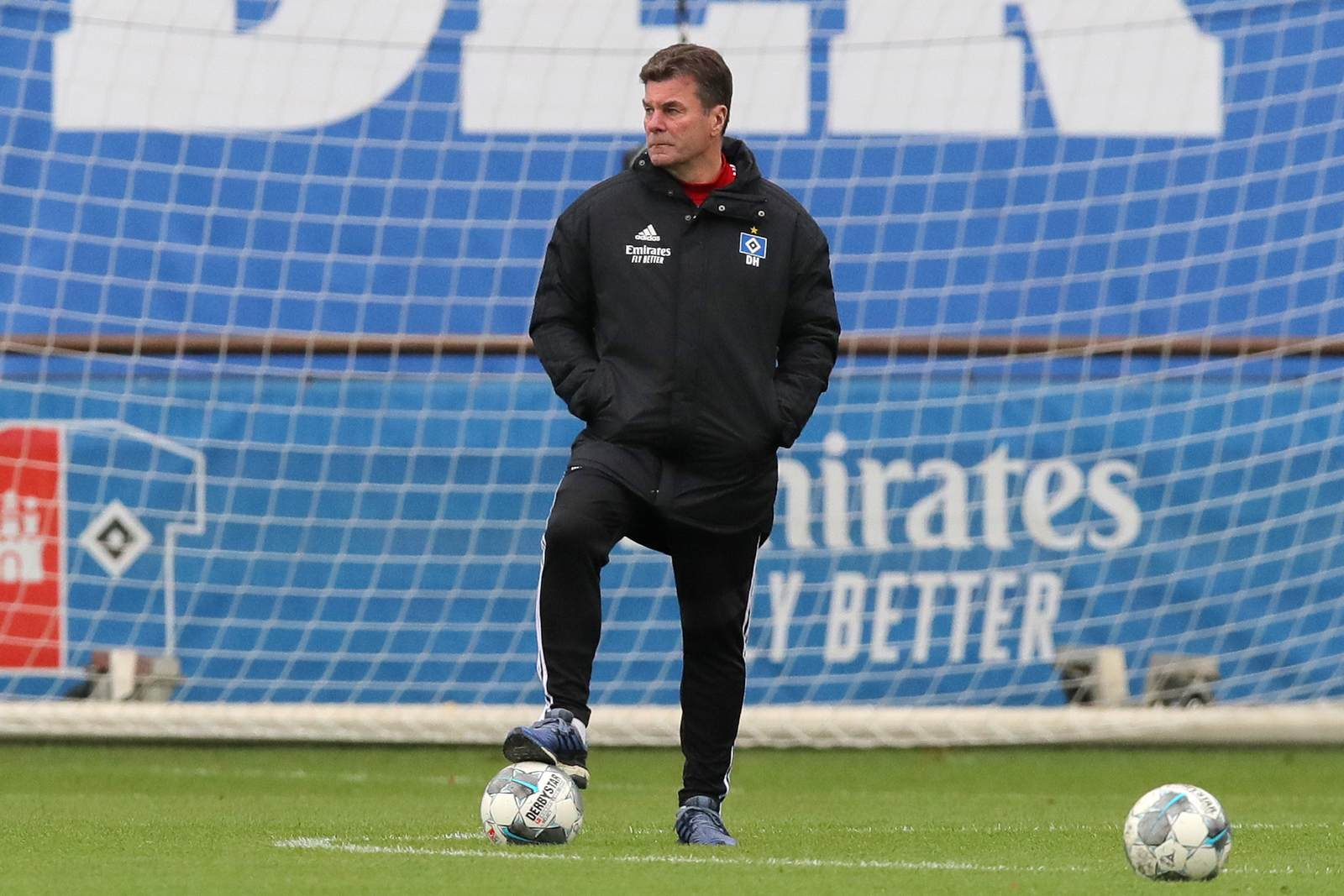 Dieter Hecking im Training des HSV