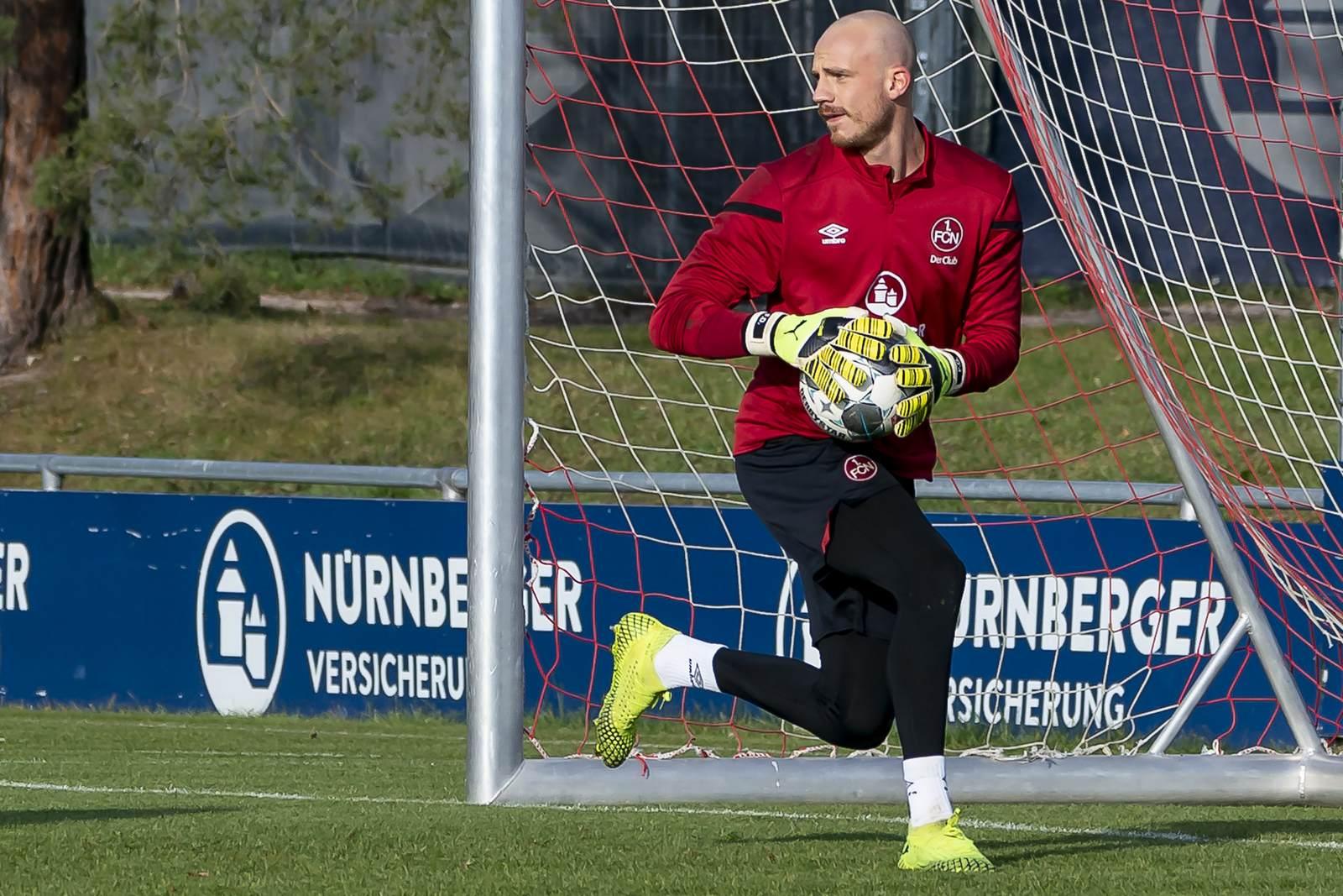 Felix Dornebusch im Training des 1. FC Nürnberg