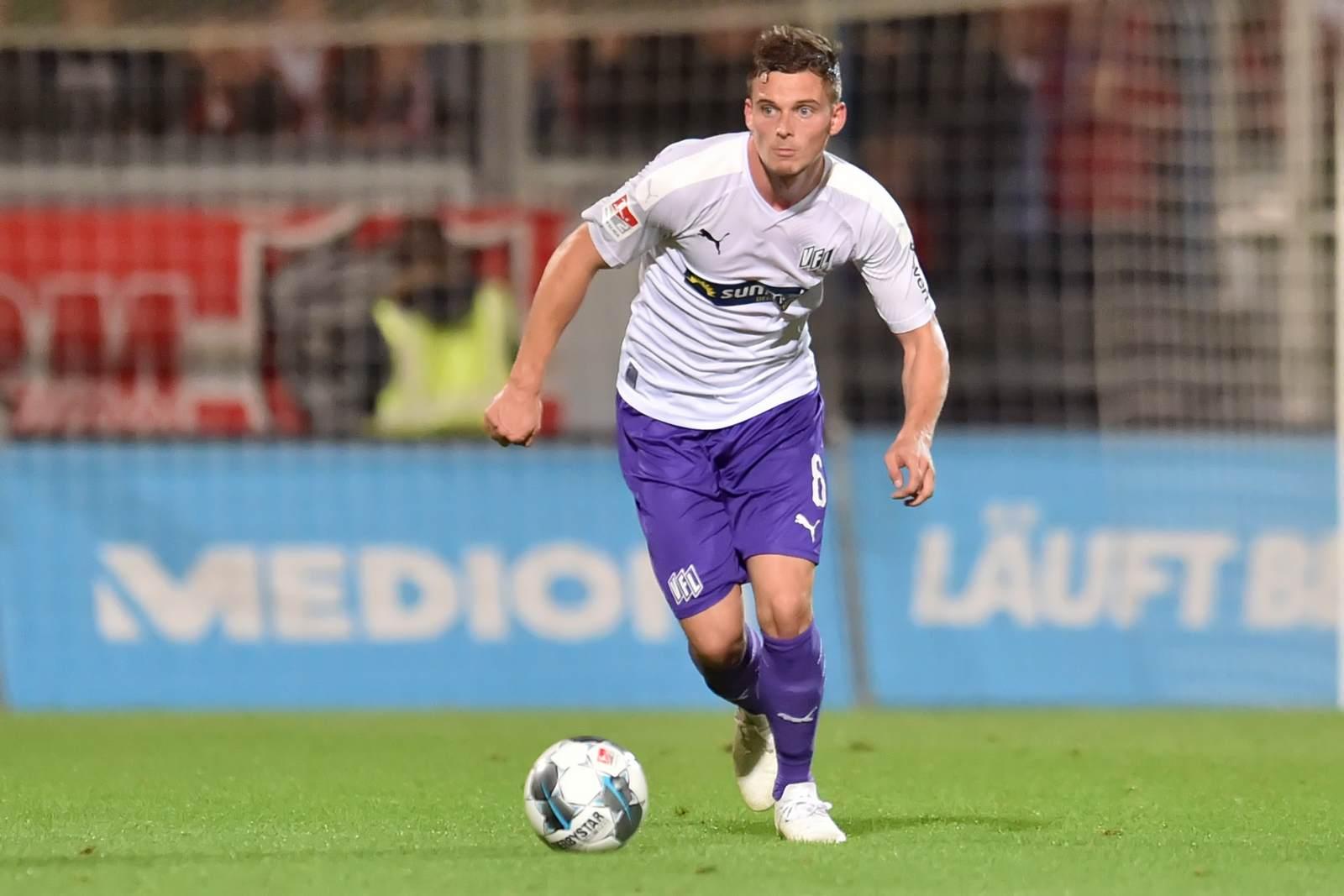 Moritz Heyer am Ball für den VfL Osnabrück