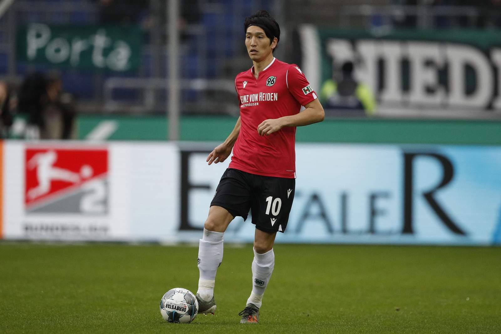 Genki Haraguchi gegen Aue.